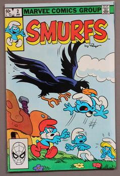 SMURFS By Peyo - ( color Marvel Pub. Comic Book) With Smurf, Smurfette, & Gargamel! Issue #2 -