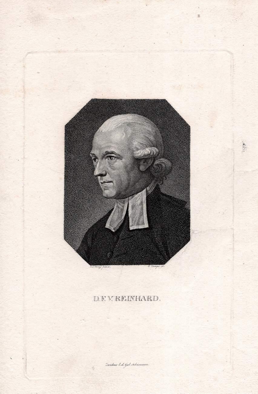 D. F. V. Reinhard. Kupferstich-Porträt von Zumpe: Reinhard, Franz Volkmar: