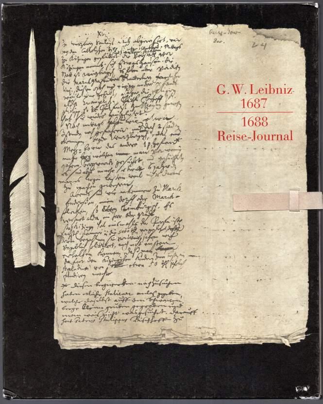 Reise-Journal 1687-1688.: Leibniz, Gottfried Wilhelm: