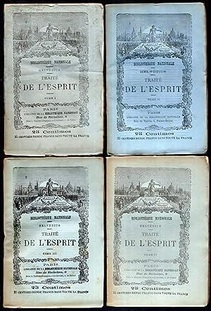 Traité de l'esprit. 4 Bände.: Helvétius, (Claude Adrien):