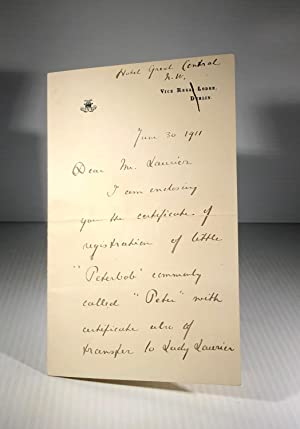 Autograph letter signed, June 30th 1911, to Wilfrid Laurier