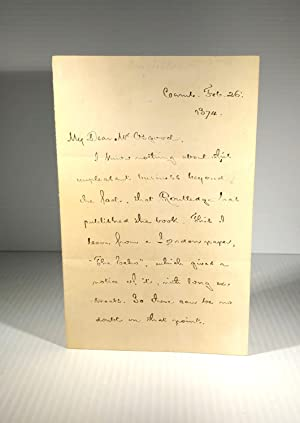 Autograph Letter Signed (H.W.L.) to Mr Osgood, Cambridge, Feb. 26, 1874