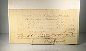 James McGill. Document manuscrit signé. 1810