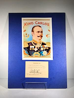 King Carlos I (1) of Portugal. Autograph Signature