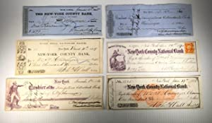 William F. Havemeyer. 6 Checks (cheques). Signed