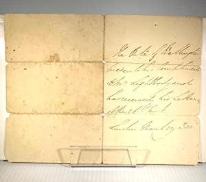 Arthur Wellesley. 1st Duke of Wellington. Autographed Letter Signed in the Third Person