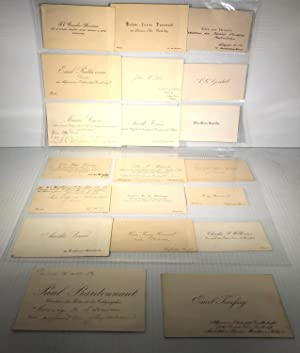 Thomas Edison. Visit to France and Germany 1889. 20 Business Cards