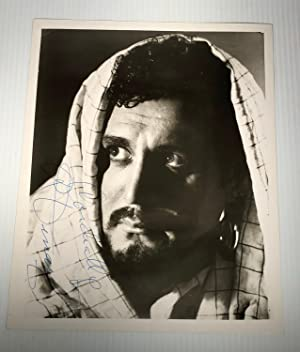 Ramon Vinay. Black and white photograph. Otello. Signed