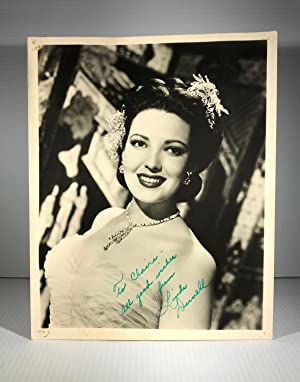 Linda Darnell. Black & white photograph. Signed