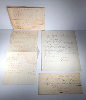 Whaling. Archives. 12 manuscripts and documents. 1814-1890