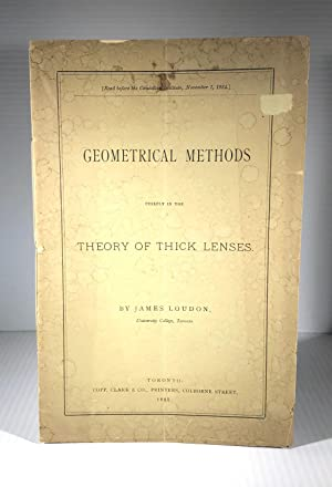 Geometrical Methods Chiefly in the Theory of Thick Lenses