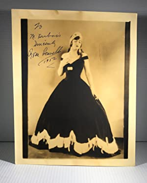 Rosa Ponselle. Original Sepia Photograph. Signed