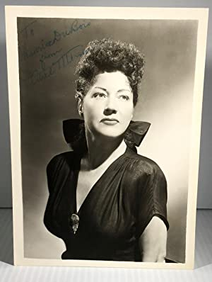 Ethel Merman. Original Black and White Photograph. Cabinet. Signed