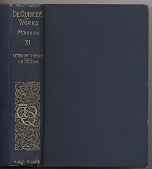 Collected Writings of Thomas De Quincey, Vol. XI