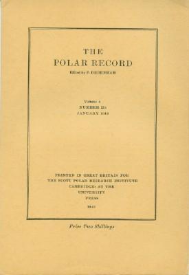 Polar Record - Volume 4, Number 25: January 1943