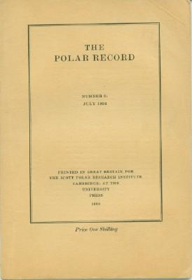 Polar Record - Number 6: July 1933
