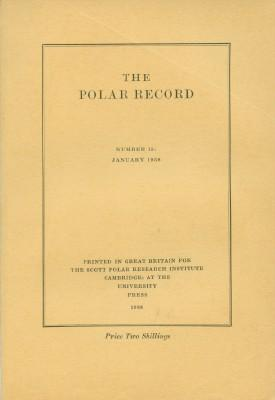 Polar Record - Number 15: January 1938