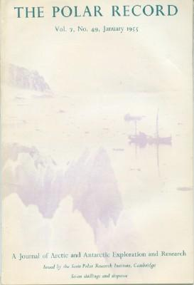 Polar Record - Volume 7, No. 49, January 1955