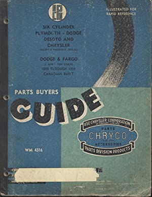 Chryco Parts Buyers Guide, 1954 Edition: Chrysler Corporation of Canada