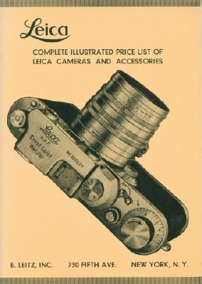Leica Complete Illustrated Price List of Leica Cameras and Accessories