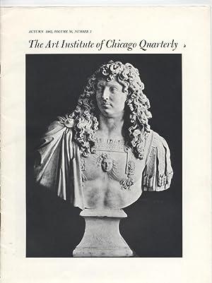 Treasures of Versaille & Art Institute of Chicago Quarterly, Autumn 1962, Vol. 56, No. 3-...