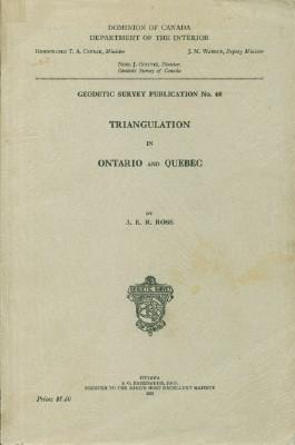 Triangulation in Ontario and Quebec: Ross, J.E.R.