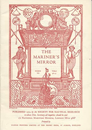 Mariner's Mirror: The Journal of The Society for Nautical Research Index to Vols. 36-55