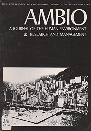 Ambio: A Journal of the Human Environment Research and Management, Volume VII Number 1 1978