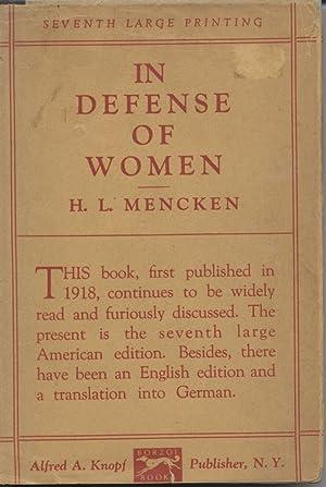 In Defense of Women: Mencken, H.L.