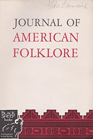 Jounral of American Folklore, January-March 1968, Vol. 81, No. 319