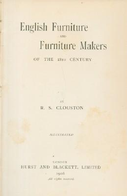 English Furniture and Furniture Makers of the 18th Century