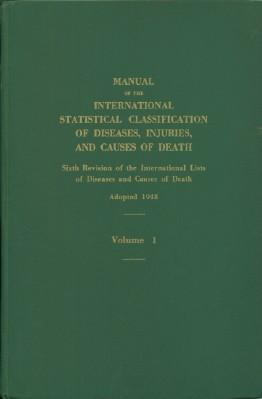 Manual of the International Statistical Classification of
