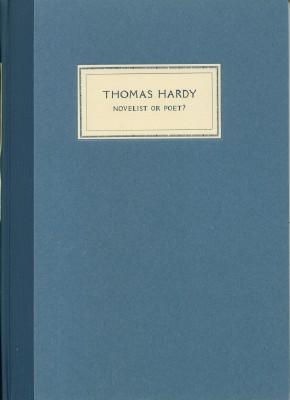 Thomas Hardy, Novelist or Poet?: Newton, A. Edward