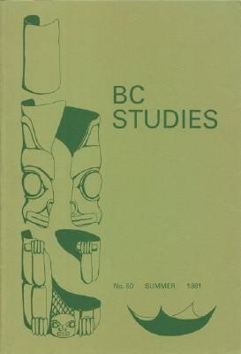 BC Studies, No. 50 Summer 1981