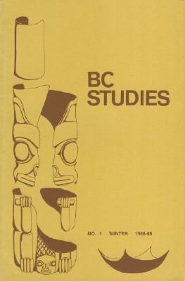 BC Studies, No. 1 Winter 1968-69: Smith, Allan, Editor
