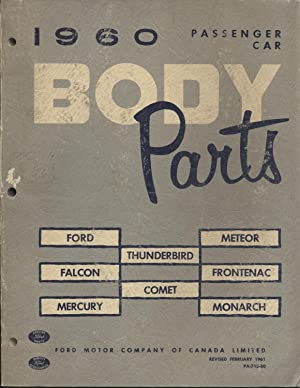 1960 Passenger Car Body Parts: Ford, Falcon,: Ford Motor Company