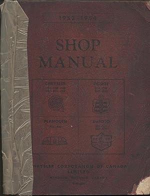 1953-1954 Shop Manual P23, P25, D43, D44, D49, D50, S16, S18, S19, S20, C56, C58, C60, C62, C63, ...