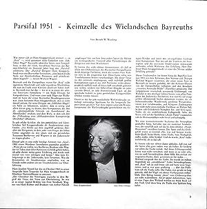 Parsifal. Ein Bühnenweihfestspiel in 3 Aufzügen. Uraufgeführt in Bayreuth am 26. Juli 1882. George ...