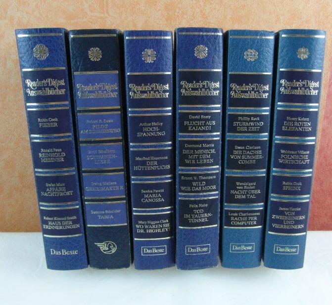 6 x Reader`s Digest Auswahlbücher: Henry Kolarz,Waltraud Villaret,Robin