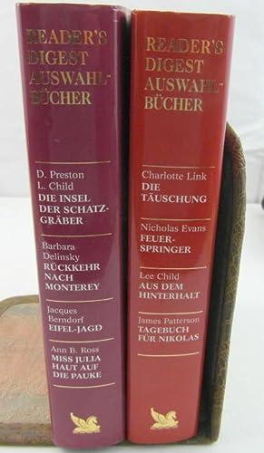 2 Bände Reader`s Digest Auswahlbücher: Charlotte Link,Nicholas Evans,Lee