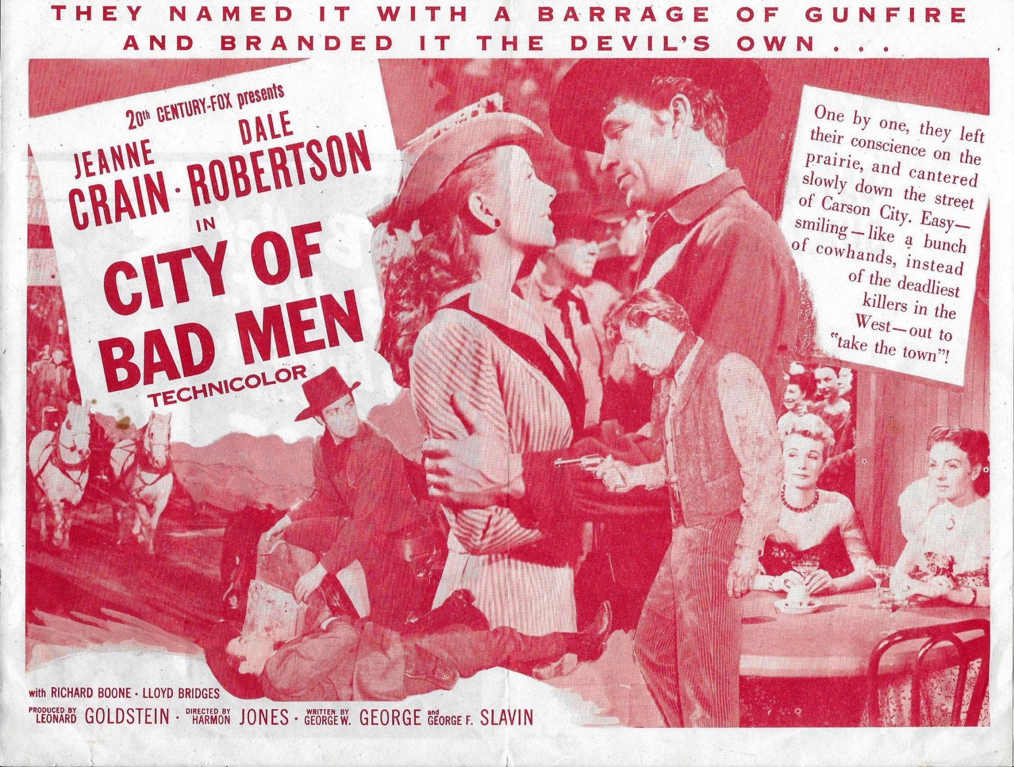 City of Bad Men: Original Movie Ad-1953