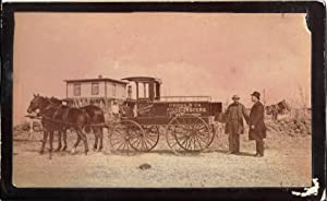 North Dakota Photograph: Griggs & Co. Wholsale Grocers Horse Drawn Wagon from Minnesota