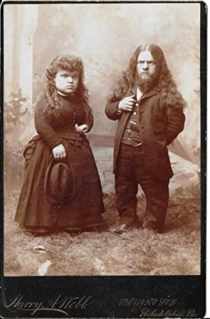 Antique Cabinet Photograph Chief Pedro & Sister