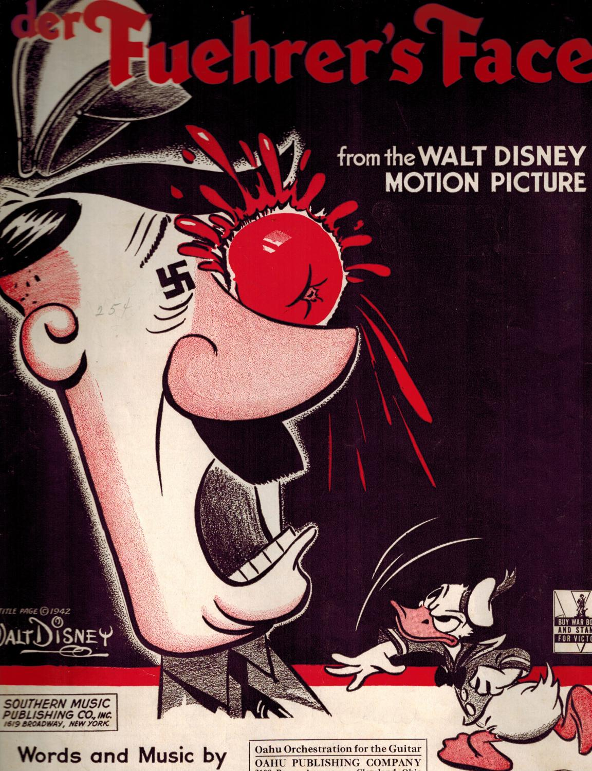 Der Fuehrer's Face DISNEY, Walt, Studios -- Oliver WALLACE, words and Music Very Good Softcover