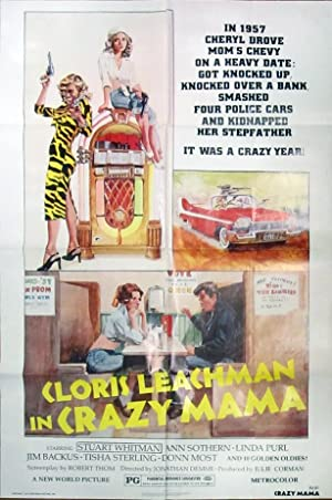 Crazy Mama - Original Folded One Sheet Movie Poster(1975)
