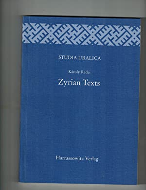 Zyrian Texts: Redei, Karoly