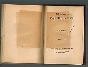 The Mystery of Madeline Le Blanc: Ehrmann, Max