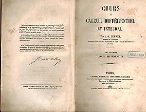 Cours de calcul différentiel et intégral, par: Serret, J. -A.