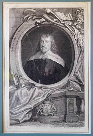 Engraving of Frances Russell, 4th Earl of Bedford ( 1593-1641 )