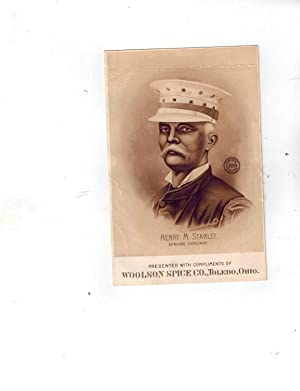Henry M. Stanley American Explorer Advertising Trading Card